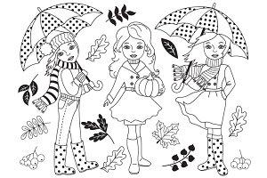 Autumn Girls - Fall Set