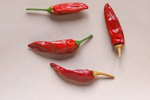 Hot chili pepper vegetables