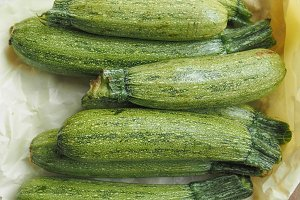 Courgettes aka zucchini vegetables