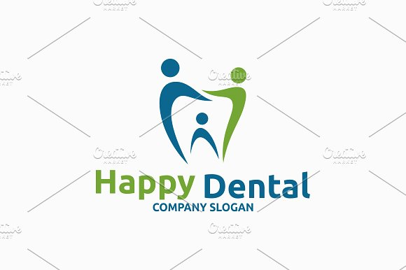 Happy Dental Logo Templates Creative Market