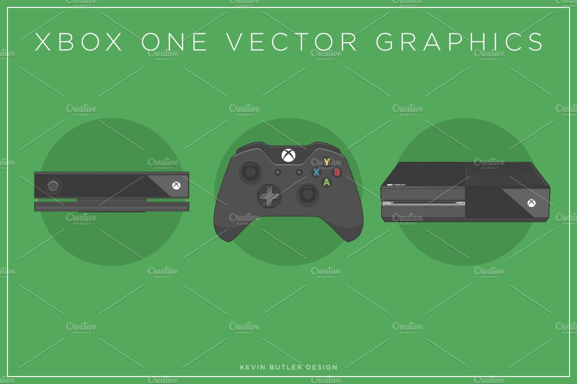 Vector Drawing Lines Xbox One : Xbox one vectors graphics creative market