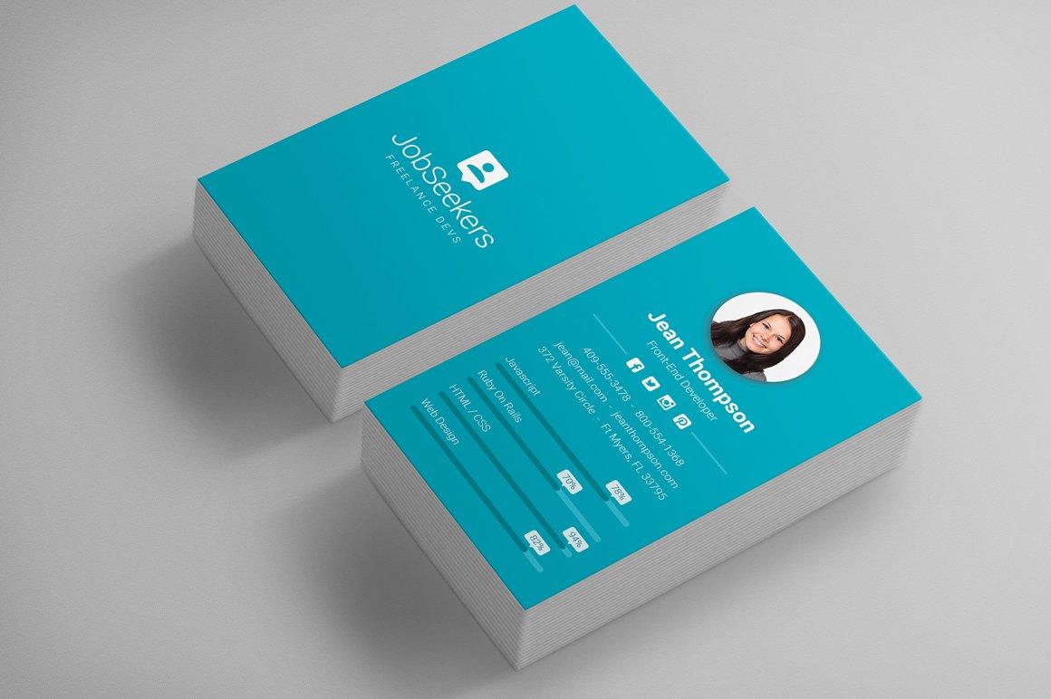 Modern Material Design Business Card ~ Business Card Templates ...