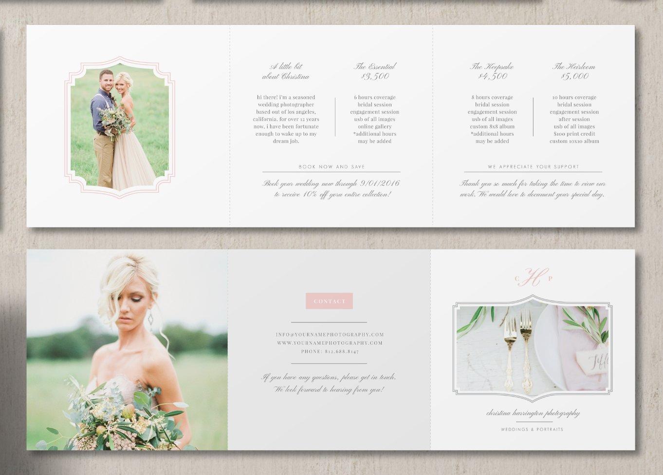 Photographer price list template brochure templates for Price list brochure template