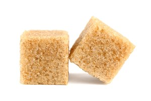 Cubes of cane sugar