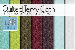 20 Quilted Terry Cloth Textures