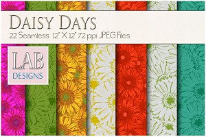 22 Daisy Pattern Fabric Textures