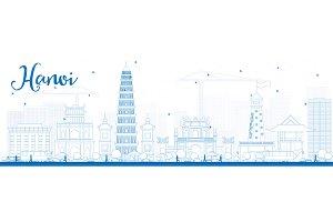 Outline Hanoi skyline