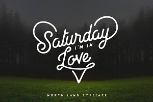 North Land Typeface - Font Bundle