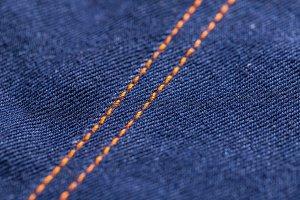 Orange stitches
