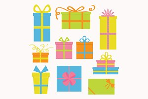 Gift box icon set.