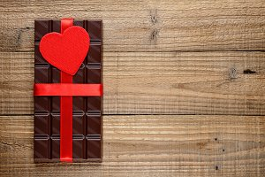 Chocolate with red heart