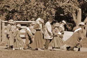 Sepia 1860s School Children