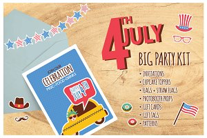 4th of July-Big Party Kit
