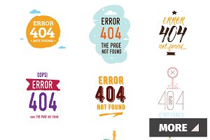 404 error web pages and labels