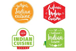Authentic indian cuisine labels