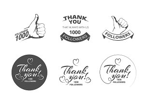 vintage Thank you badges
