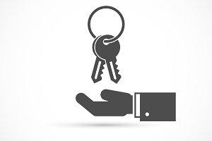 Holding keys on hand