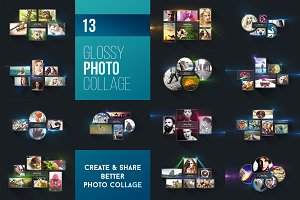 13 Glossy Photo Collage