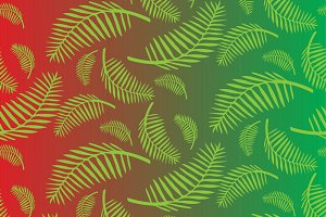 Palm branches pattern