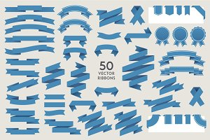 100! Vector Ribbons (50+50)