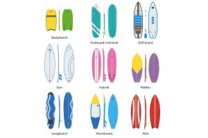 Surfing Boards Collection