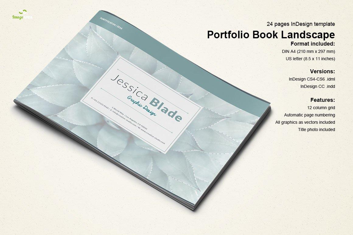 directory booklet template - portfolio book landscape brochure templates creative