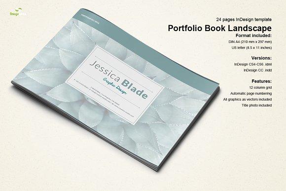 portfolio book landscape brochure templates creative market