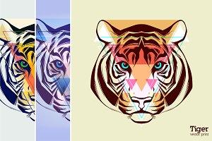 Tiger | vector print