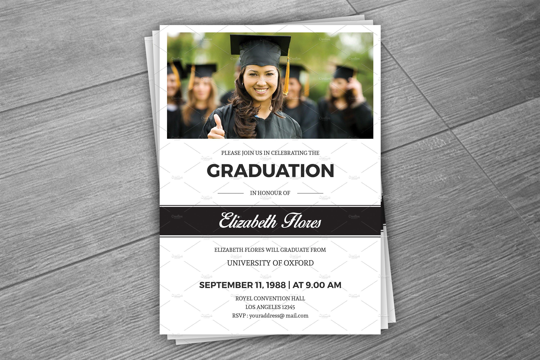 graduation brochure templates - graduation announcement card v287 flyer templates