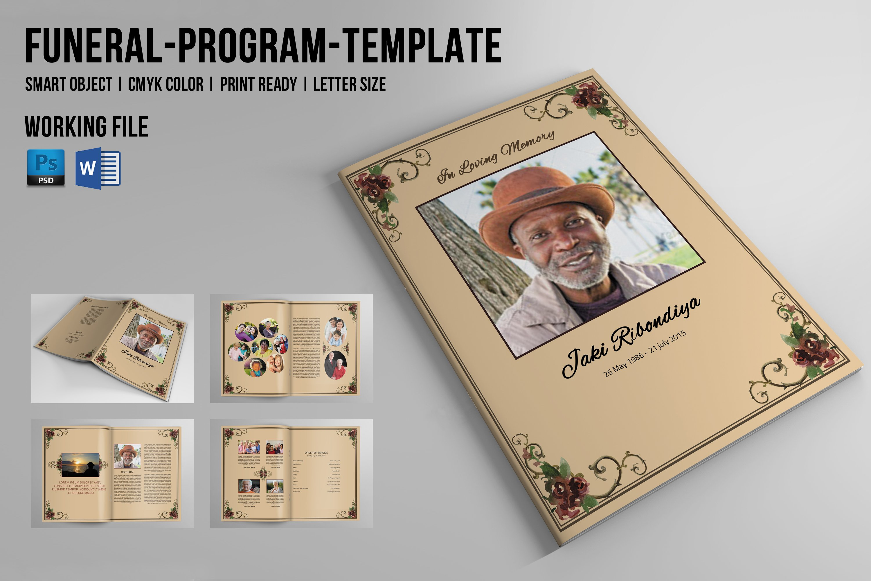 8 page funeral booklet template v510 brochure templates creative