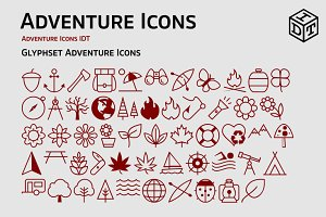Adventure Icons + Web Font(free)