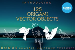 Origami Vector Objects + Bonus!