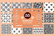 55 Painted Seamless Patterns