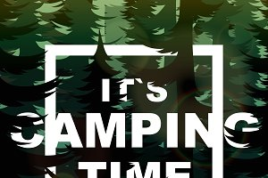 Camping time nature background