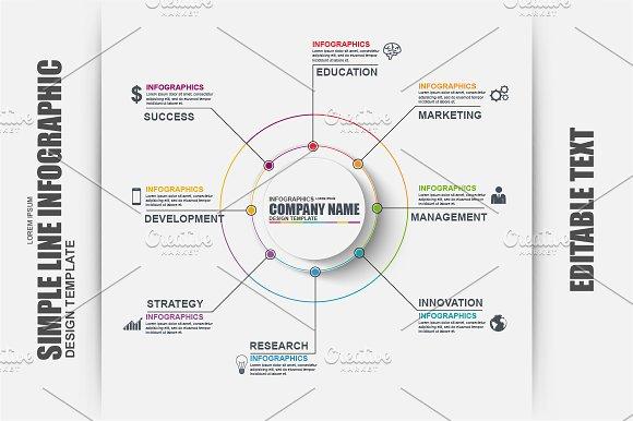 Simple Timeline Infographic Vector ~ Presentation