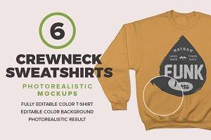Crewneck Sweatshirts Mockups