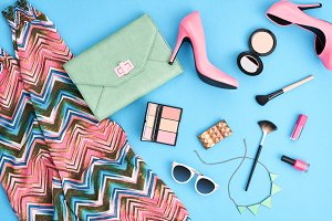 Street styleFashion girl clothes accessories set