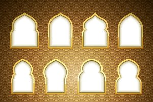 Gold Design Arab windows