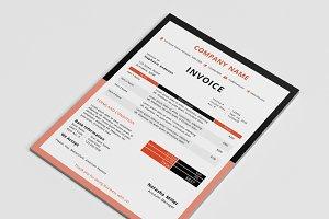 Border invoice template (docx)