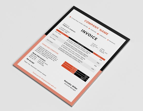 border invoice template docx stationery