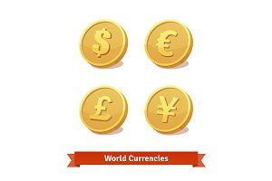 Main currencies symbols