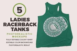 Ladies Racerback Tanks Mockups