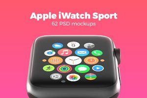 62 Apple Watch Mockups