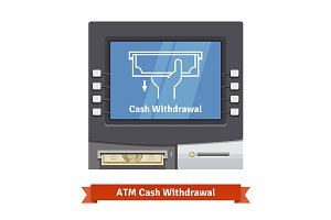 ATM machine withdrawal