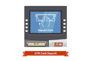 ATM machine with current operation