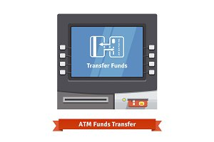 ATM machine with transfer operation