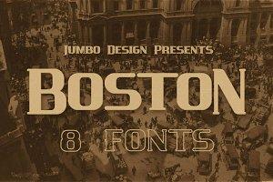 Boston - Vintage Style Font