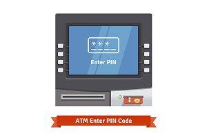 ATM Enter PIN code