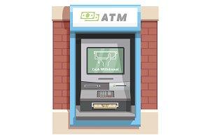 Street ATM teller machine