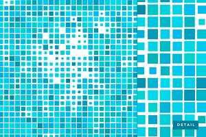 Mosaic square pattern texture